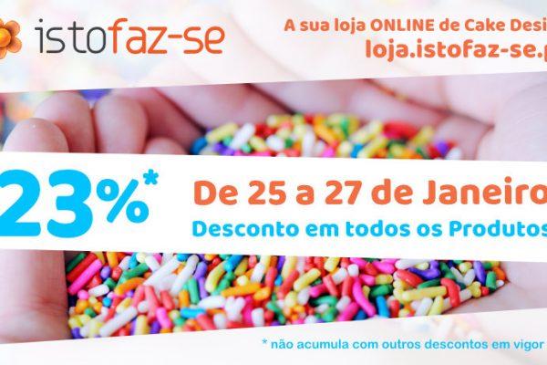 23% de volta à Loja Online