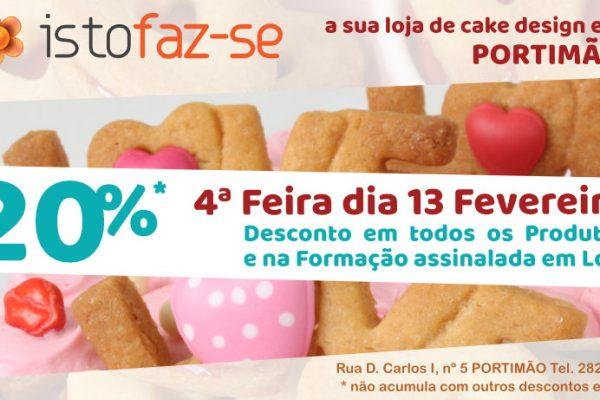 20% de desconto na Loja de Portimão!
