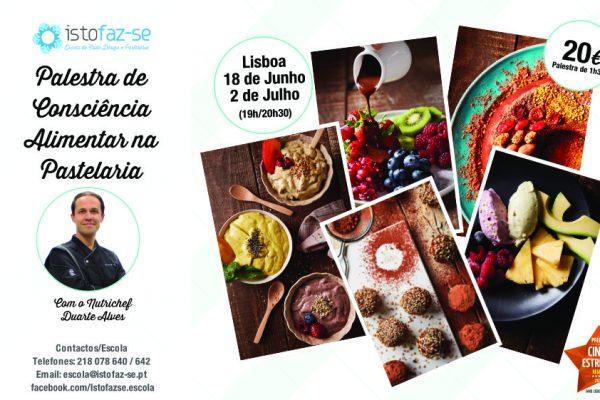 Palestra de Consciência Alimentar na Pastelaria, com o Nutrichef Duarte Alves