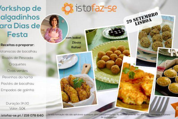 NOVO: Workshop de Salgadinhos para Dias de Festa, com Isabel Zibaia