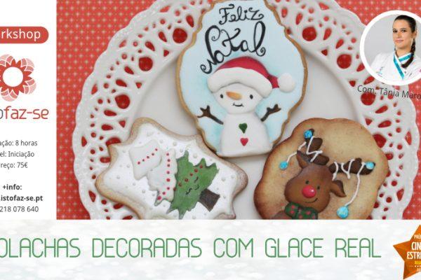 NOVO! Workshop de Bolachas Decoradas com Glacê Real tema Natal :)