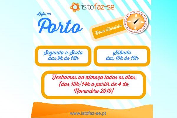 Alterações no horário da Loja do Porto