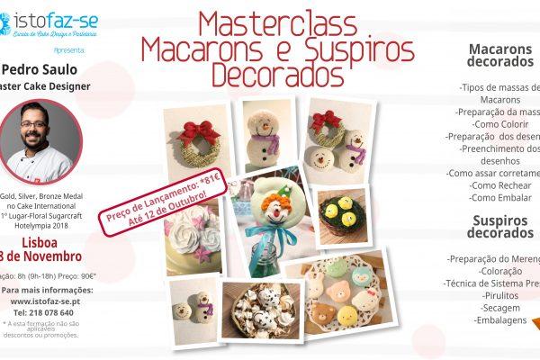 NOVO: Masterclass Macarons e Suspiros Decorados, com Pedro Saulo