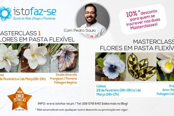 Masterclasses de Flores em Pasta Flexível, com Pedro Saulo