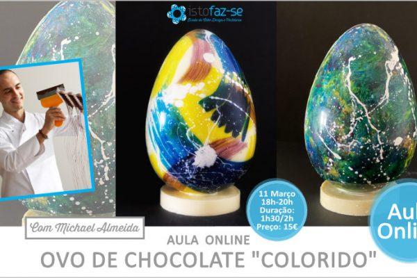 Um Ovo de Chocolate Colorido numa Nova Aula Online!