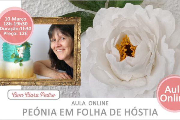 A Peónia… desta vez feita em Folha de Hóstia!