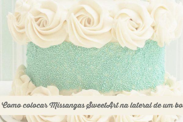 Como colocar Missangas SweetArt na lateral de um bolo